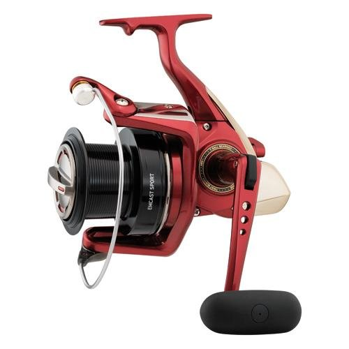 Daiwa EMCS5000A Emcast Sport Test Saltwater Spinning Fishing Reel, 14-20 lb, Red