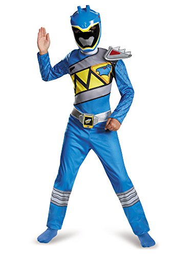 Disguise Blue Ranger Dino Charge Classic Costume, Small (4-6)]()