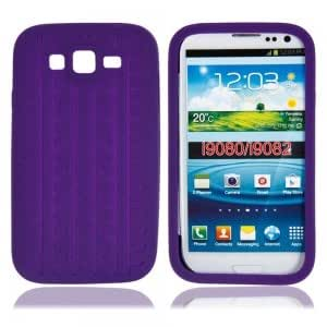 Silicone Protective Case with Tire Pattern for Samsung i9080 Purple