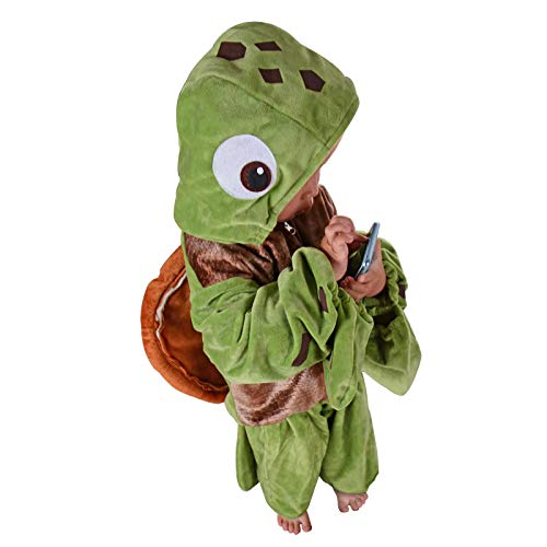 Turtle Costume Kids Sea Animal Cosplay Halloween Fancy Dress Ocean Chelonia Mydas Party Outfit (M) ()
