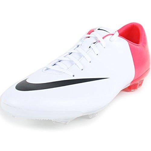 (Nike Junior Mercurial Vapor V III FG (White/Solar Red/Black))