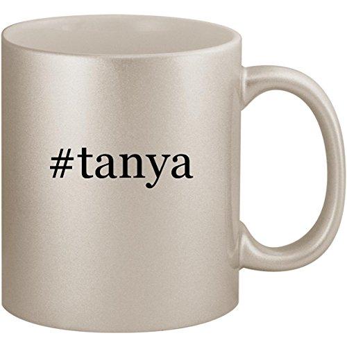 #tanya - 11oz Ceramic Coffee Mug Cup, Silver