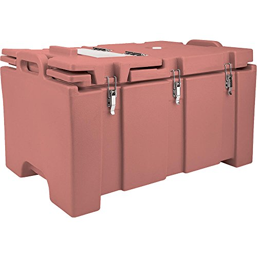 Red Brown Cambro 100MPCHL402 Camcarrier Pan Carrier with Hinged Lid - Top Load for 12