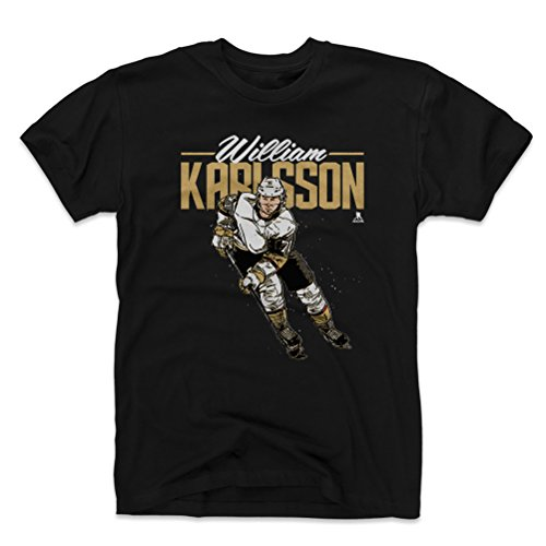 500 LEVEL William Karlsson Cotton Shirt Small Black - Vegas Hockey Men's Apparel - William Karlsson Grunge D WHT ()