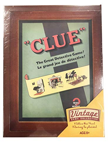 Parker Brothers Vintage Game Collection Exclusive Wooden Book Box Clue -