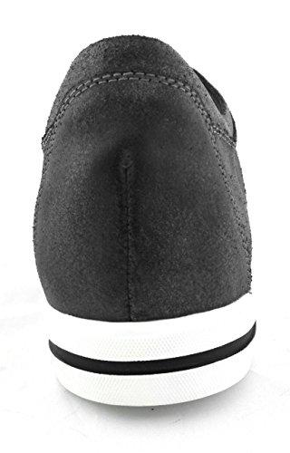 Zerimar Scarpe con con Aumentato Interno di 6 cm Realizzata in Pelle di Alta Qualità Stile Casual 100% Pelle Colore Grigio Scuro gris oscuro
