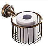 Hand-Drawn Antique Bronze Paper Towel Basket Toilet roll Round European Toilet Paper Holder