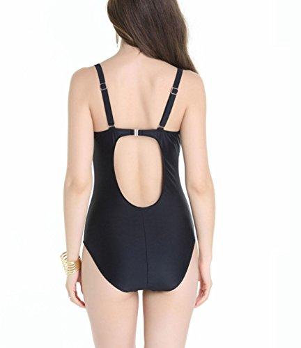 HAOYUXIANG Impresión Multicolor Traje De Baño Bikini Black