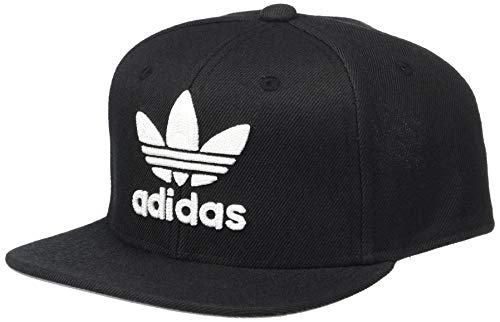 (adidas Boys / Youth Originals Trefoil Chain Snapback Cap, Black/White, One Size)