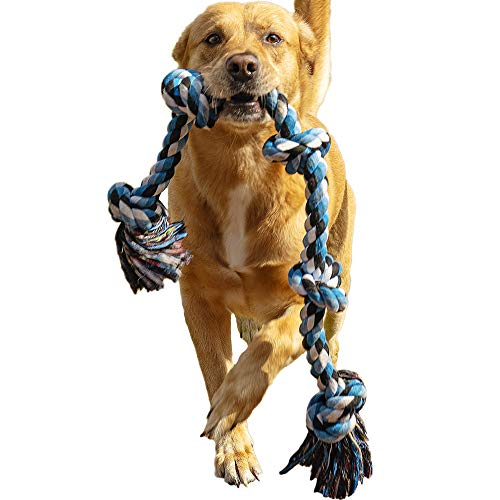 Dog Rope Toy for Aggressive Chewers – Medium to Large Breed Dogs | Extra-Large Tug of War Toy for Bonding with your Best…