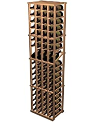 Designer 4 Column Display Wine Rack Premium Redwood Light Stain