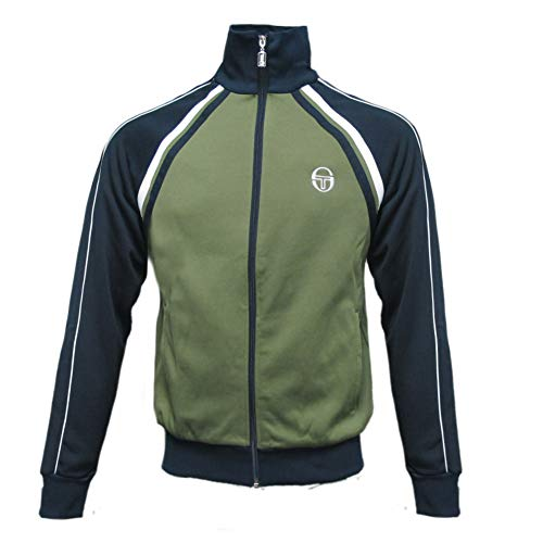 Sergio Tacchini Mens Ghibli Vintage Track Top Olivine/Navy 2XL by Sergio Tacchini (Image #2)