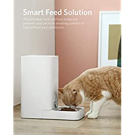 PETKIT Automatic Cat Feeder Dog Feeder, Wi-Fi Enabled SmartFeeder, App for iOS and Android,Work with Alexa, Portion Control with Timer programmable, Fresh Lock System Auto Food Dispenser Pet Feeder