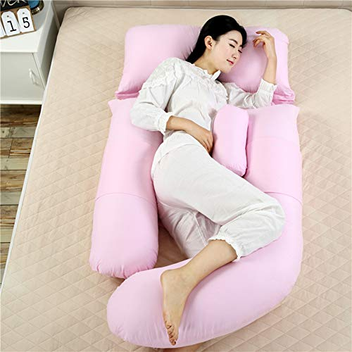 Comfortable G-Shaped Pregnancy Pillow - Maternity Pillow for Pregnant Women with Pillowcase - Support for Back, Hips, Legs, Belly - Inner Filling Cotton - 69 Inch,F