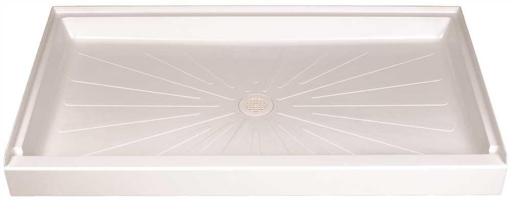 El Mustee 3460M Durabase Fiberglass Rectangular Shower Floor, White, 34 X 60'', 62.2 '' x 36.5 '' x 8.7''
