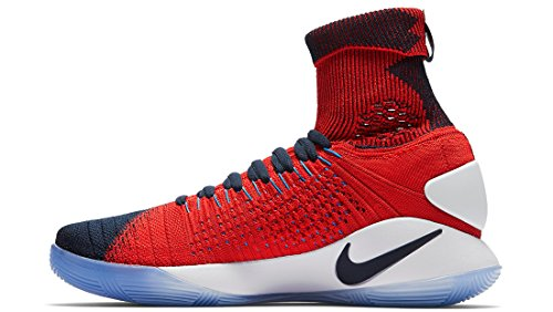 official photos 4ac7d 30674 ... Nike 843390-446 Men s Hyperdunk 2016 Flyknit USA Away Snaeker Shoes  Obsidian (10.5) ...