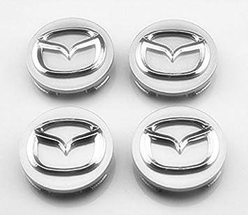 TSD 4 piezas 56 mm rueda Center Hub Caps cubierta para Mazda 2 3 6 Atenza Axela CX-5 CX-7 CX-8: Amazon.es: Coche y moto
