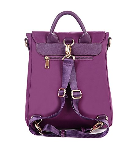 Canvas Backpack Mini Purple Yiji Color blocking Eco Women's Friendly PB6qw51