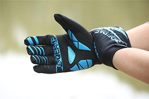 Lerway Guantes Gimnasio Deportivos Ciclismo Gloves Completo Dedos para Bicicleta Bici Moto Unisex Protección las Palmas (Azul, XL): Amazon.es: Coche y moto
