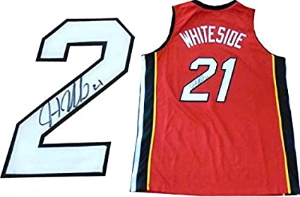 5d7f88ce1e6 Signed Hassan Whiteside Jersey - Red - Autographed NBA Jerseys at ...