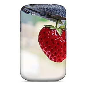 linJUN FENGAwesome CxKUcAn5819lxPdy Cynthaskey Defender Tpu Hard Case Cover For Galaxy S3- Strawberry In A Wooden Clip