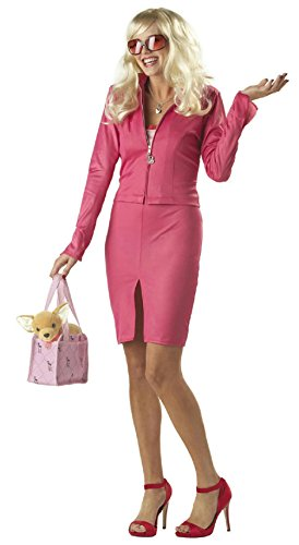 Legally Blonde Costumes (Legally Blonde Halloween Costume Womens Pink Blonde Cute Movie Costume Ladies)