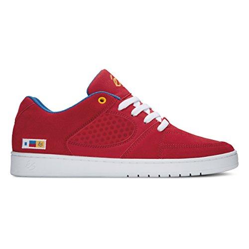 Es Skateboard Chaussures Accel Slim Rouge / Bleu / Blanc Rouge Bleu Blanc
