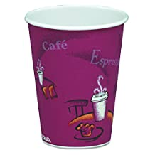 SOLO 378SI-0041 8-oz. Bistro Single-Sided Poly Paper Hot Cup (20 Packs of 50 Cups)
