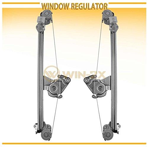 E320 Window Regulator - WIN-2X New 2pcs Rear Left & Right Side Power Window Regulators Without Motor Fit Mercedes-Benz W210 E-Class 96-02 4-Door Sedan 96-03 5-Door Wagon