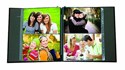 Pioneer Photo Albums 2PS-160 160-Pocket Sewn Leatherette Frame Cover Photo Album, Black