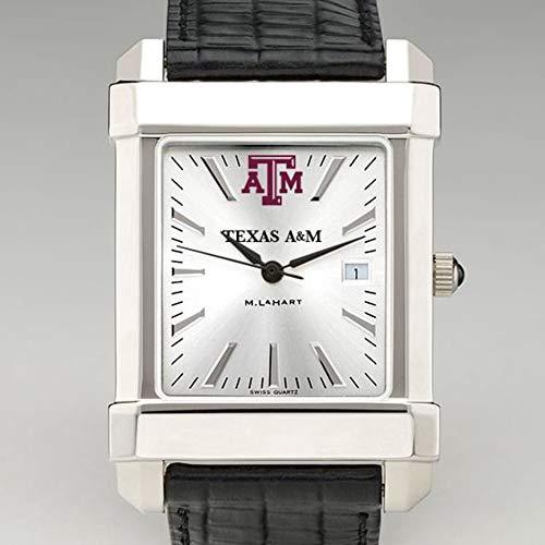 M. LA HART Texas A&M Men's Collegiate Watch with Leather Strap
