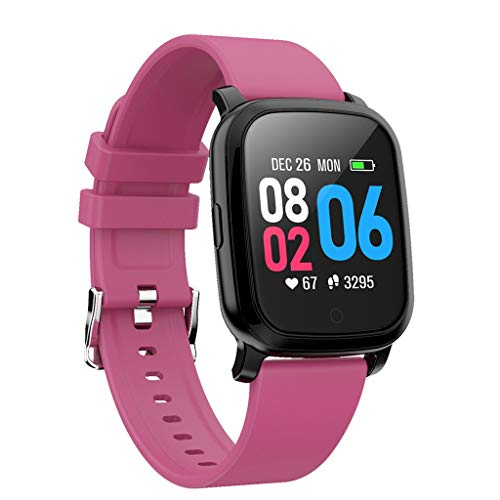 Fitness Tracker - salaheiyodd Activity Tracker with Step Counter - Waterproof SmartWatch with Heart Rate Monitor - Fit Watch Sleep Monitor Step Counter for Android & ISO (Hot Pink) (Pink Tft Monitor)