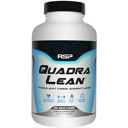 RSP QuadraLean Weight Loss Supplement with CLA, Garcinia Cambogia, Raspberry Ketones and L-Carnitine, 50 Servings