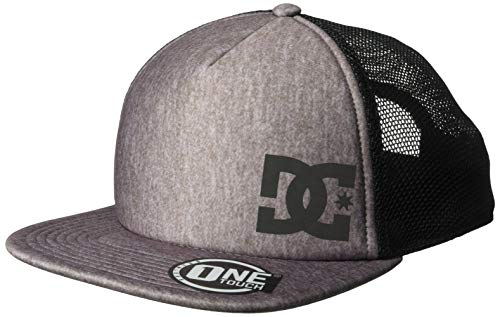 - DC Men's GREETERS Snapback Trucker HAT, Charcoal Heather, 1SZ