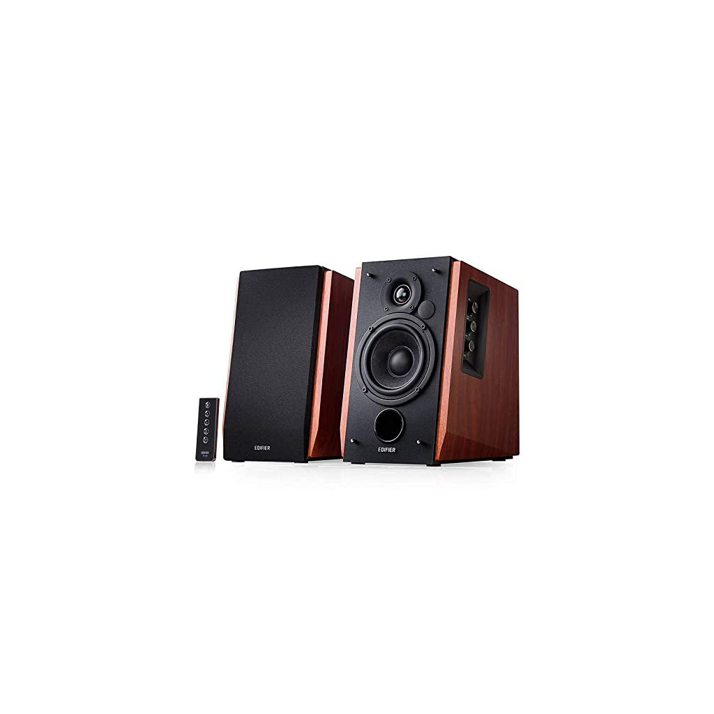 Edifier R1700BT Bluetooth Bookshelf Speakers – Active Near-Field Studio Monitors – Powered Speakers 2.0 Setup Wooden Enclosure – 66w RMS