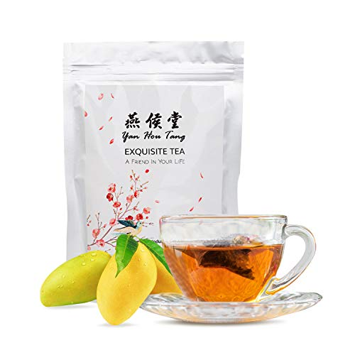Yan Hou Tang Organic Mango Oolong Tea Bags Flesh Full Loose Leaf Spice Mix Fruit Flower Natural Delicious Tea Drink 50 Teabags