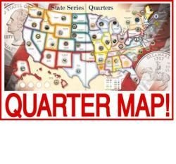 State Album Whitman Quarter (WHITMAN Educational Products - Us State Quarters Collector Map Album - Collect all 50 state quarters PLUS the district of columbia and territories by Whitman Coins)