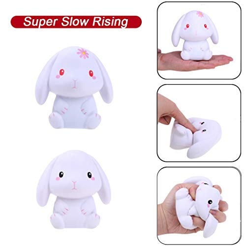 Choosebuy [2 Pack] Squishies Jumbo Lovely Rabbit Cream Scented Super Slow Rising Stress Relief Toy Collection Kids Gifts (A)