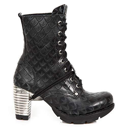 Stivaletti Heavy Stivali M Stringati Punk Rock tr001x s13 Urban Gotico Donna Nero Tacco New Ragazza nYT0a7wYq