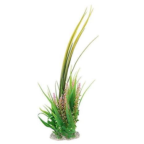 DealMux plástico acuario artificial paisaje Debajo del agua Hierba Verde Rosa planta de decoración: Amazon.es: Productos para mascotas