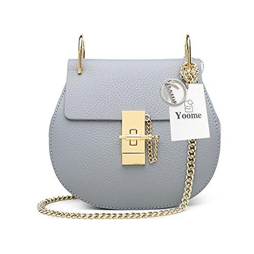 Bag Bag Style For Chain Punk Envelope Ring Grey Blue Bags Crossbody Bag Yoome Clutch Girls Mini U Flap WqUn4Sn0w