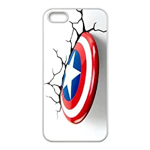 Lovely Captain America Phone Case For iPhone 5,5S M55862