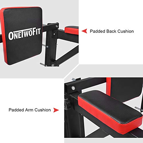 OneTwoFit Multifunctional Wall Mounted Pull Up Bar Power Tower Set Chin Up Station Home Gym Workout Strength Training Equipment Fitness Dip Stand Supports to 330 Lbs OT076 by ONETWOFIT (Image #8)