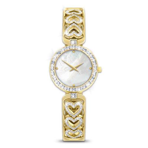 Love Always Diamond Heart Women's Watch by The Bradford (State Ladies Heart Watch)