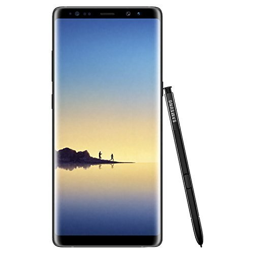 Samsung Galaxy Note 8 N950 Factory Unlocked Phone 64GB Midnight Black (Certified Refurbished)