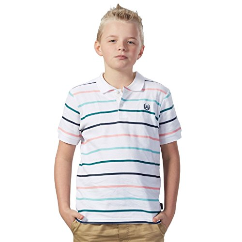 Sleeve Casual Cotton Stripes Rugby Polo Shirts (6, Color Strip) ()