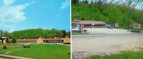Post Card: MOUNTAIN TOP MOTEL & RESTAURANT, BLUE RIDGE PARKWAY, Color by Chris Mayer, Published by Mayer Post Card Co, Roanoke, VA, 116978 ()