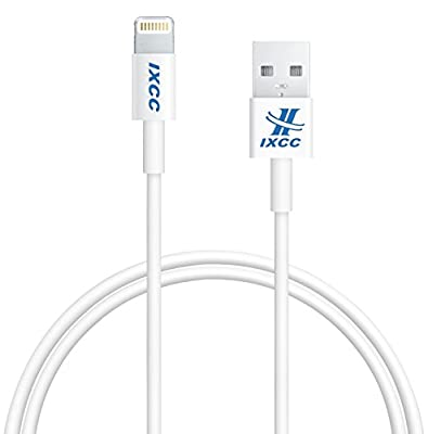 [Apple MFI Certified] iXCC ® Lightning Cable 3ft (Three Feet) Element Series 8 pin USB SYNC Cable Charger Cord for Apple iPhone 5 / 5s / 5c / 6 / 6 Plus / iPod 7 / iPad Mini / Retina / iPad 4 / iPad Air