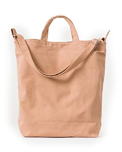 BAGGU Duck Bag Canvas Tote, Essential Everyday Tote, Spacious and Roomy, Canyon