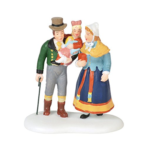 "Department 56 Alpine Village Accessories Family Outing Figurine, 2.75"", Multicolor"